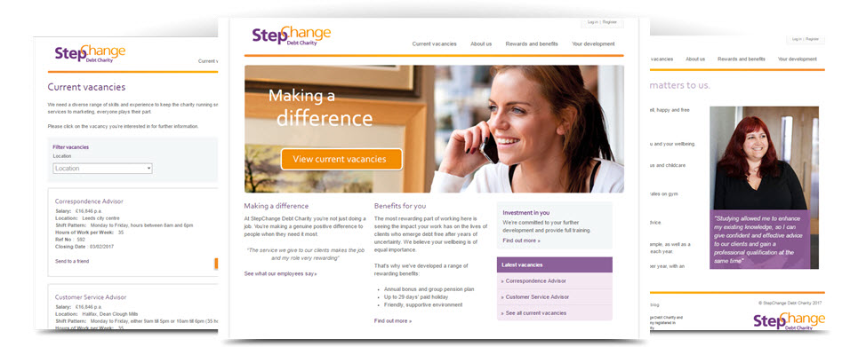 StepChange Debt Charity careers site