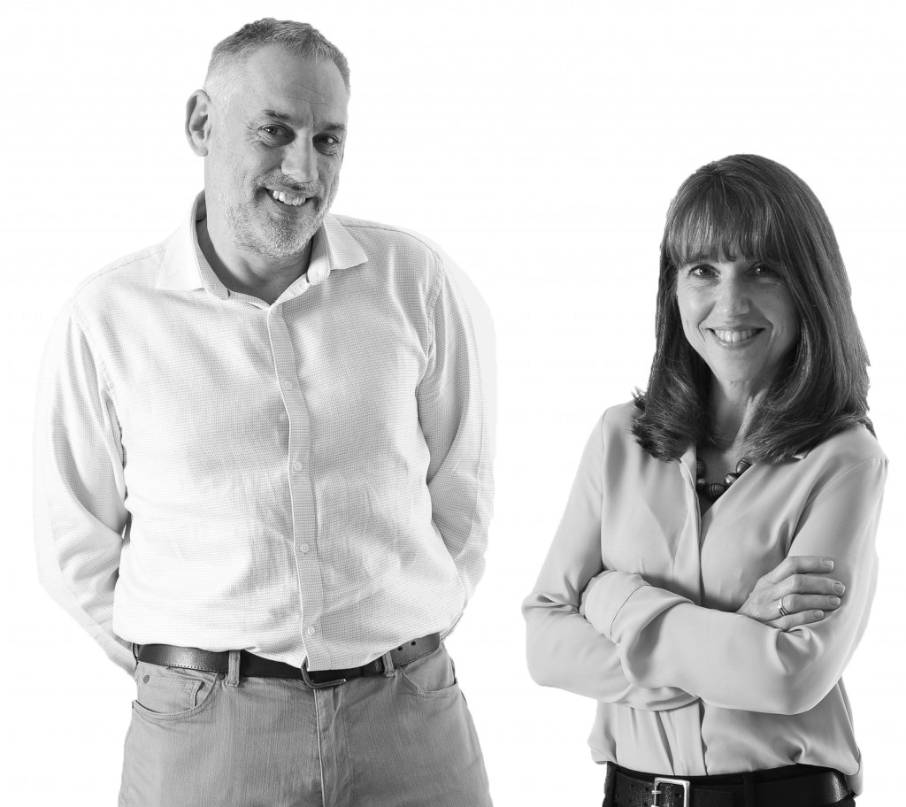 Managing directors Karen and Jeremy Ovenden